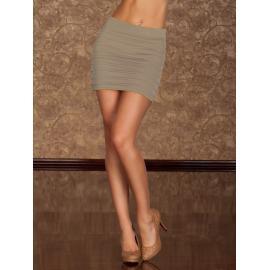 Mini falda beige plisada