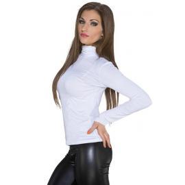 Camiseta mujer básica manga larga color Blanco