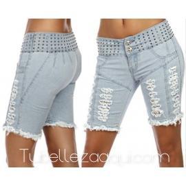 Jeans vaqueros corto push up