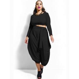 Conjunto talla grande Top + Pantalón en color Rojo o Negro
