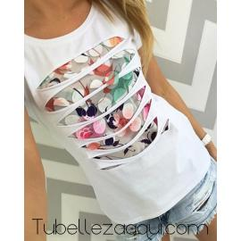 Camiseta en Rosa o Blanco con relieves
