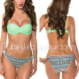 Bikini copa estilo concha varios colores