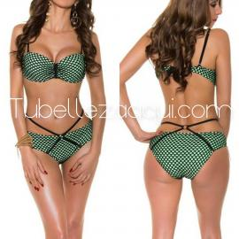 Bikini push up varios colores con rejilla