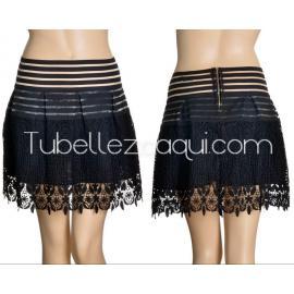 Falda encaje en color Negro o Blanco