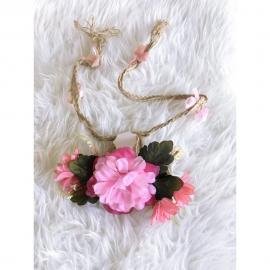 Cinturón con Flores rosa para mono