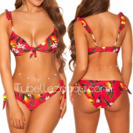 Bikini con lazos estampado Veraniego Varios colores
