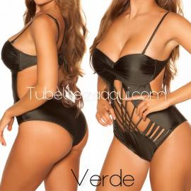 Trikini push up con tiras Varios colores