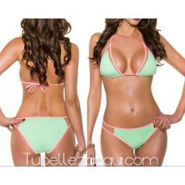 Bikini varios colores flúor con transparencias