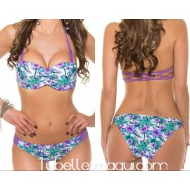 Bikini push up con estampado veraniego varios colores