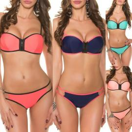 Bikini neo preno push up en varios colores