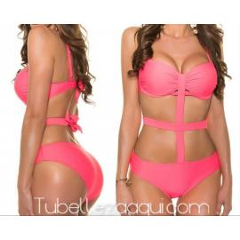 Trikini con tiras push up varios colores