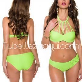 Bikini copas dos piezas agarrado al cuello varios colores
