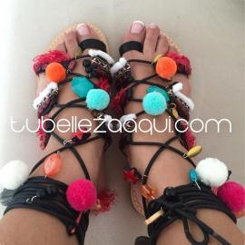 Sandalias planas Boho en varios colores