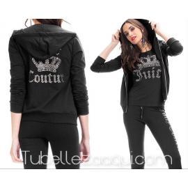 Conjunto Queen Sport 3 piezas Chaqueta + Camiseta + Pantalones varios colores